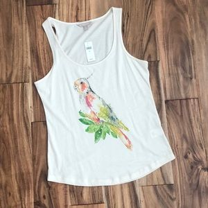 "NWT! Banana republic ""parrot"" tank top size xs"